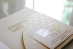 Inside Artbay Gallery UV Spot Printed Pattern W/ Business Cards